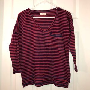 Nwot madewell Cotton long sleeve striped top